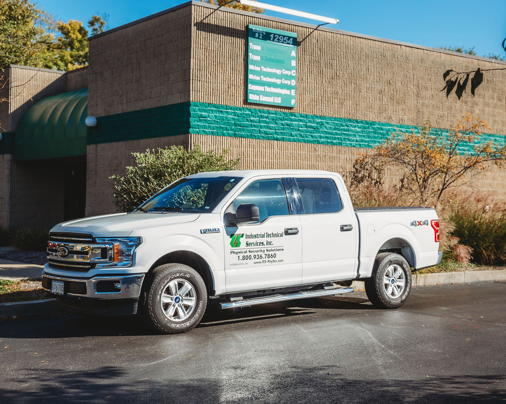 Industrial Technical Services Inc. truck outside of building